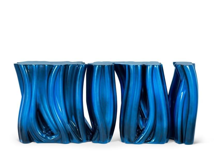 Consolle laccata in fibra di vetro MONOCHROME by Boca do Lobo