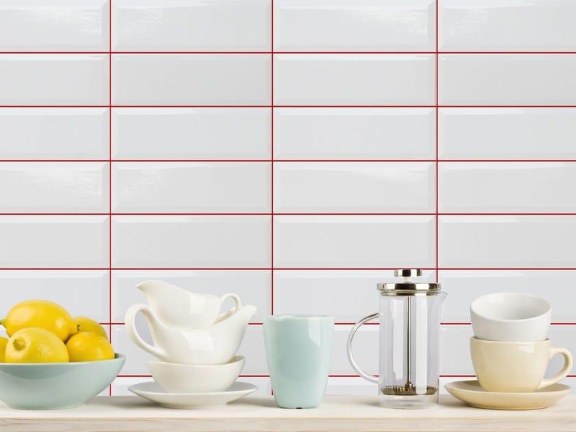 Ceramic wall tiles MONOCOLOR BISELADO | 10x30 wall tiles by Absolut Keramika