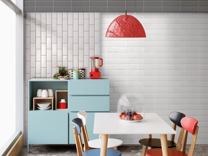Red-paste wall tiles MONOCOLOR BISELADO 10x20 by Absolut Keramika