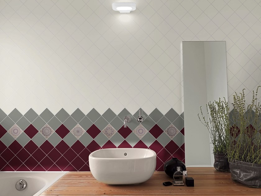 Red-paste wall tiles MONOCOLOR LISO BRILLO | 10x10 wall tiles by Absolut Keramika