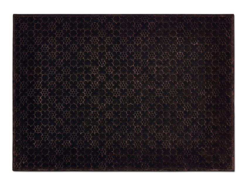 Handmade rectangular wool rug MONOGRAM by OT Oliver Treutlein