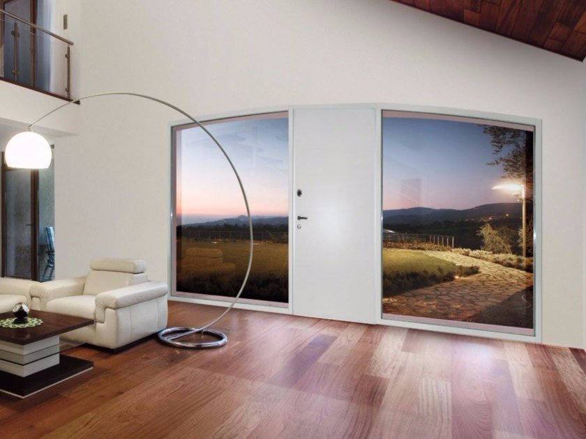 Safety door with concealed hinges MONOLITE - 15.1019 MNT8000 by Bauxt