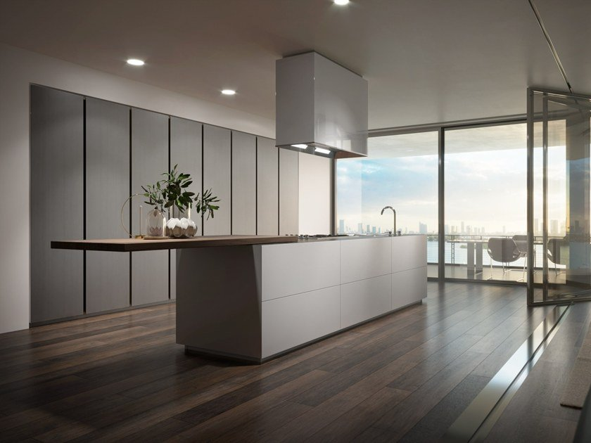 Cucine Moderne Scic.Fitted Kitchen Without Handles Monolite By Scic