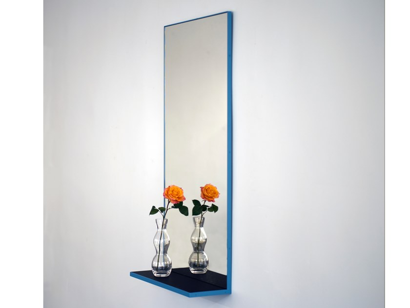 Rectangular wall-mounted framed mirror MONOLOGUE by extranorm
