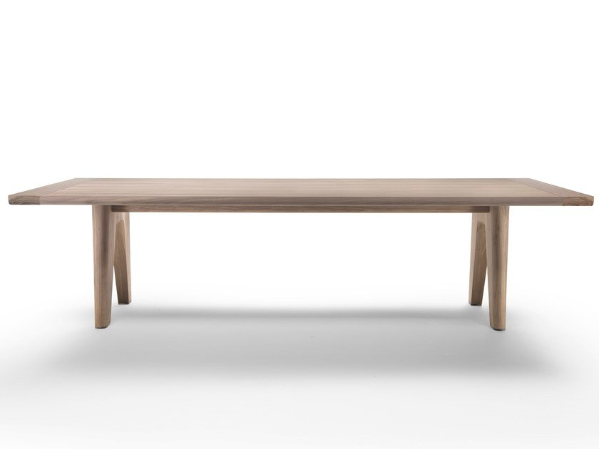 Rectangular solid wood table MONREALE by FLEXFORM