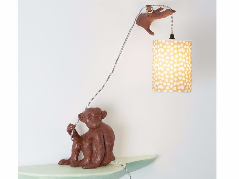 Indirect light ceramic wall lamp MONSIEUR CHOCO by Moustache