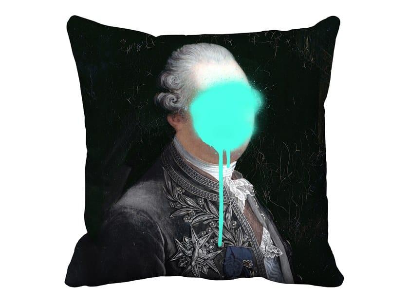 Square velvet cushion MONSIEUR MINT   Cushion by Mineheart