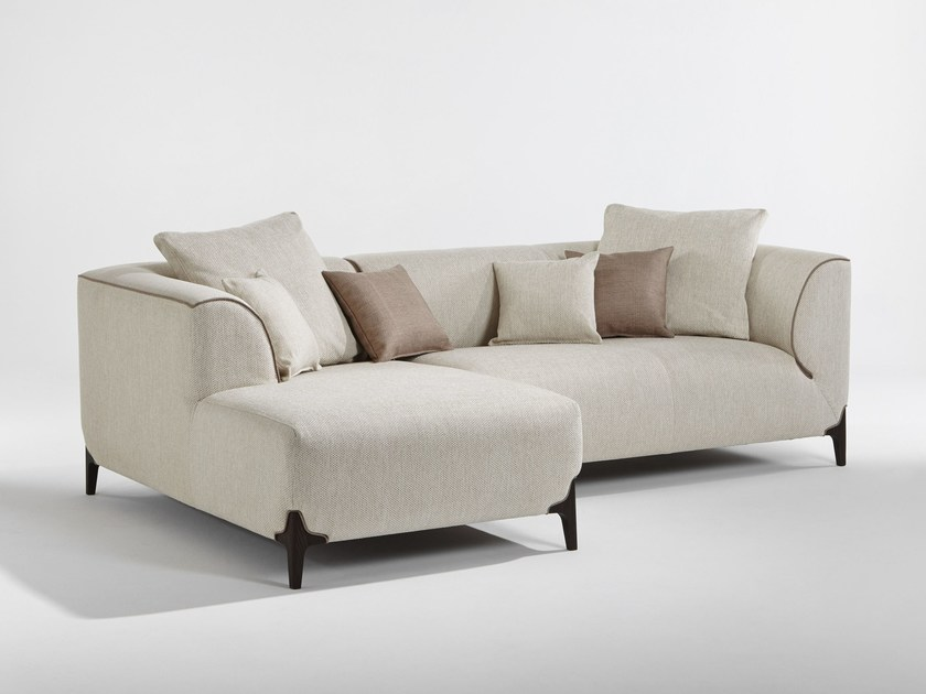 Sectional fabric sofa with chaise longue MONTAIGNE   Sectional sofa by Burov