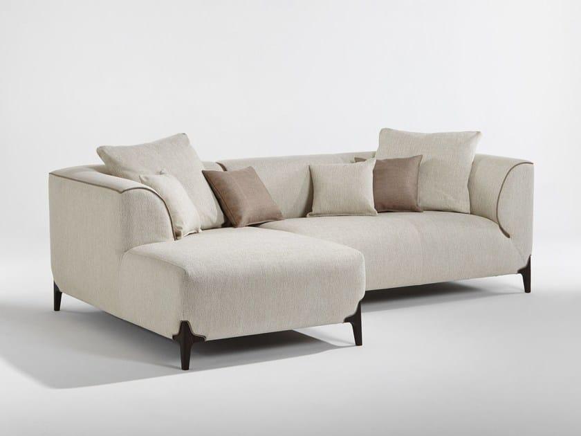 Divano componibile in tessuto con chaise longue MONTAIGNE | Divano componibile by Burov