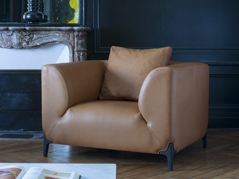 Leather armchair MONTAIGNE   Armchair by Burov