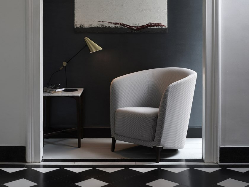 Fabric easy chair with armrests MONTAIGNE BRIDGE   Easy chair by Burov