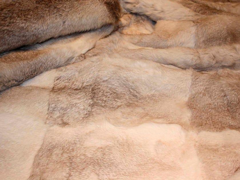Natural fur throw and cushions MONTANA by Miyabi casa