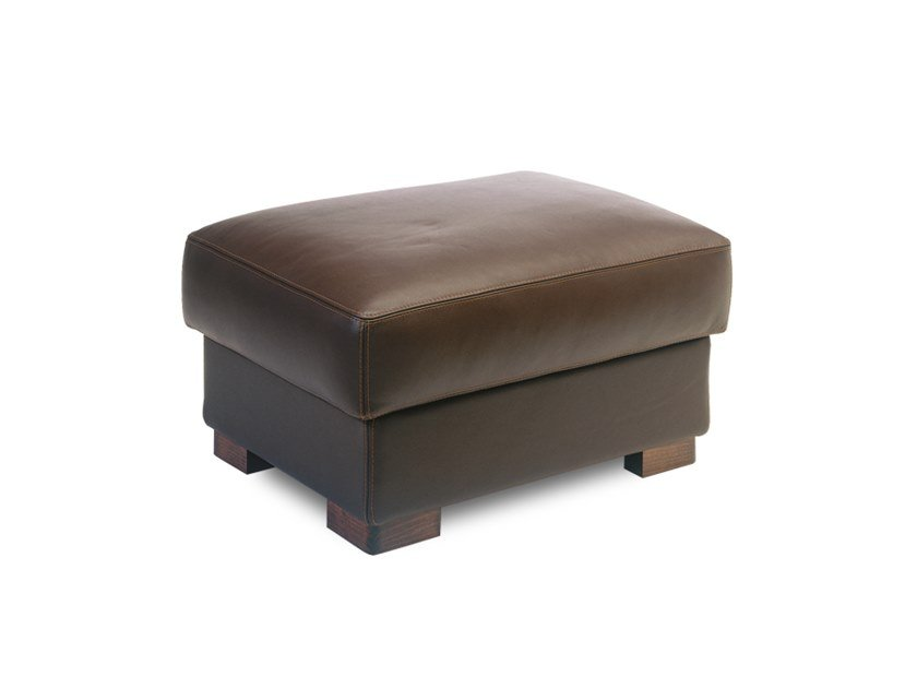 Rectangular leather pouf MONTANA | Pouf by Neology
