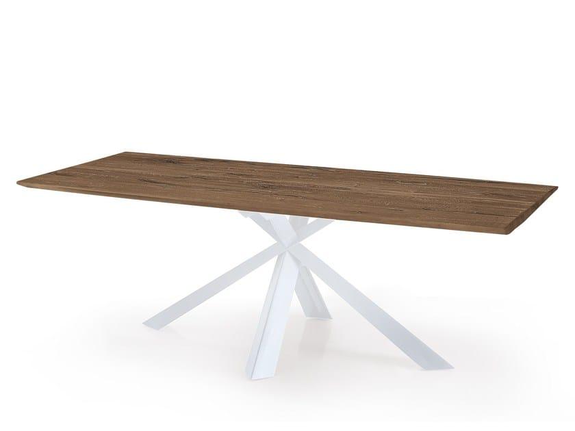 Rectangular oak table MONTANA WILD | Rectangular table by Oliver B.