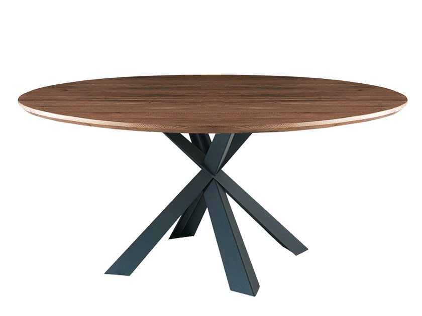 Round oak table MONTANA WILD | Round table by Oliver B.
