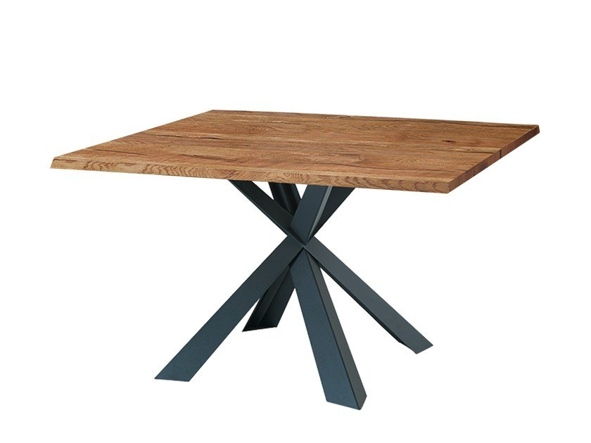 Square solid wood table MONTANA WILD | Square table by Oliver B.