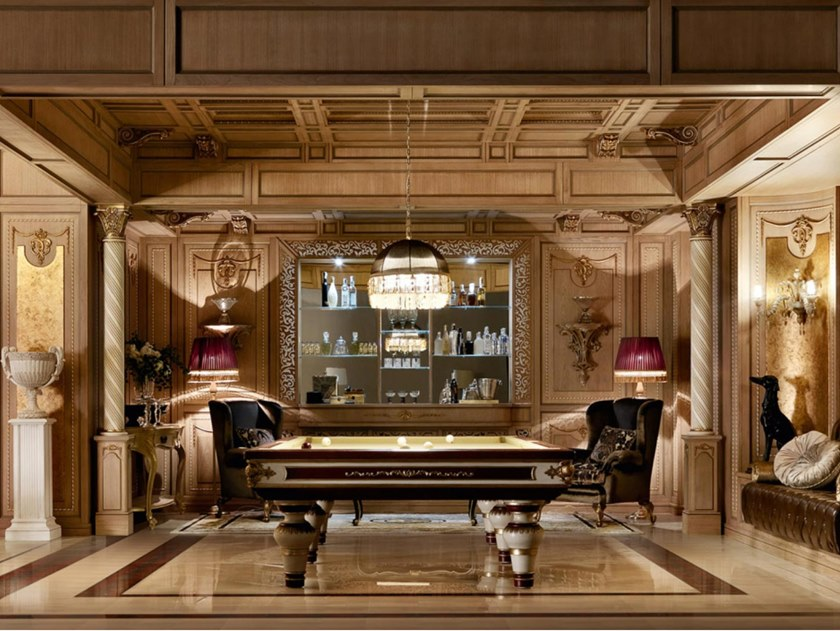 Boiserie in rovere con illuminazione integrata MONTECARLO   Boiserie by Martini Interiors