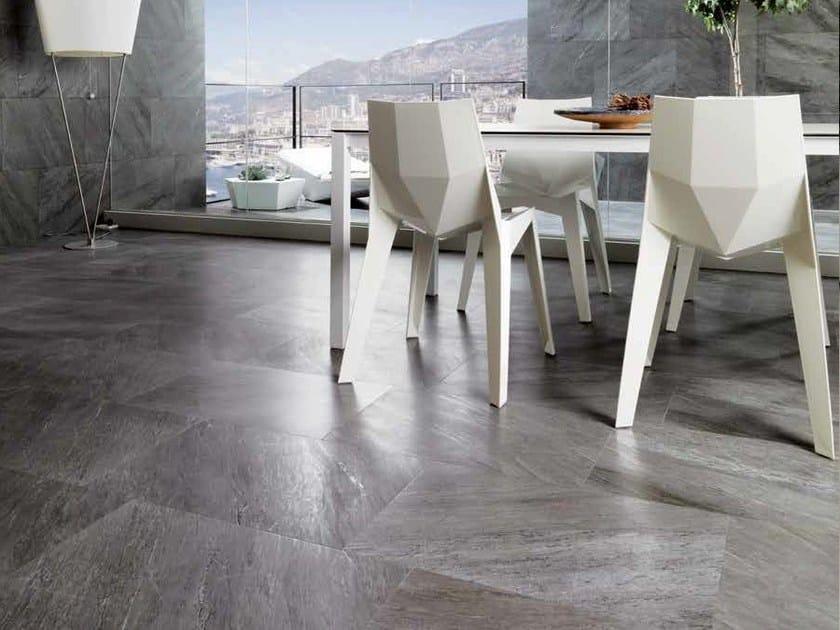 Indoor/outdoor porcelain stoneware flooring with marble effect MONTECARLO   Porcelain stoneware flooring by Venis