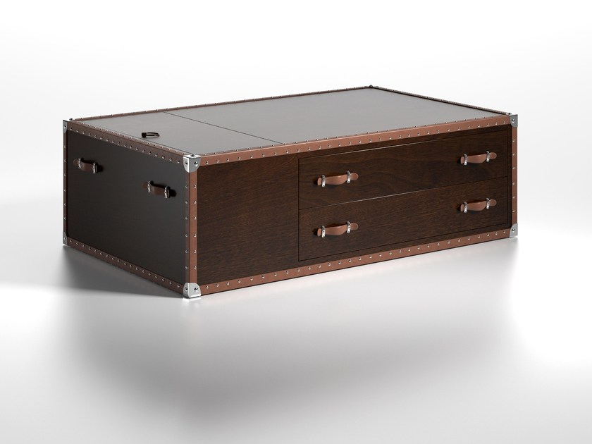 Wooden coffee table with storage space MONTECRISTO by Caroti