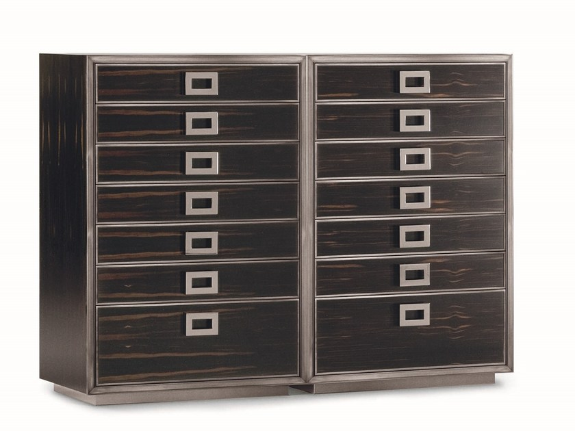 Ebony chest of drawers MONTENAPOLEONE | Chest of drawers by Flou