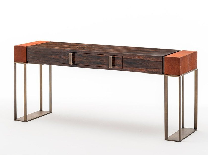 Rectangular ebony console table with drawers MONTENAPOLEONE | Ebony console table by OAK