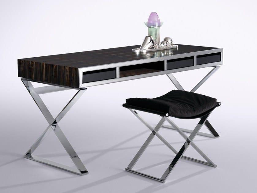Ebony writing desk with drawers MONTENAPOLEONE | Writing desk by Flou