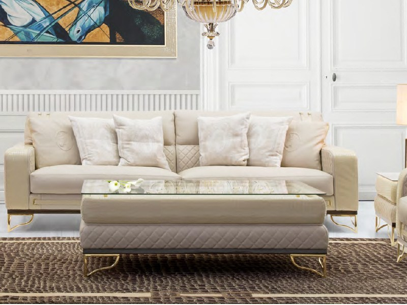 Rectangular leather coffee table for living room MONTGOMERY | Coffee table by Formitalia
