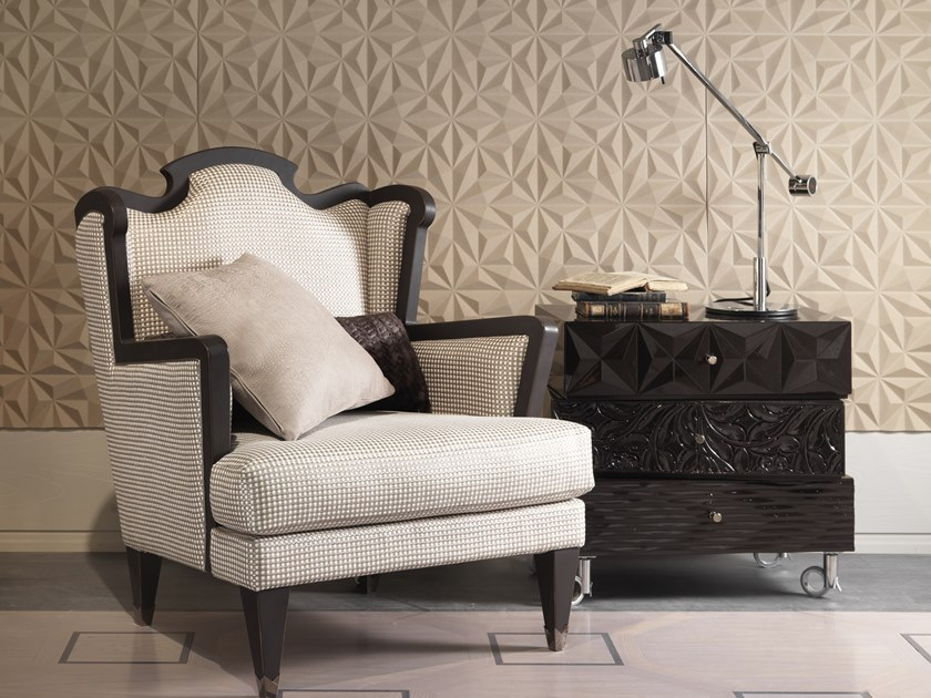 Fabric armchair with armrests MONTMARTRE   Armchair by Bizzotto
