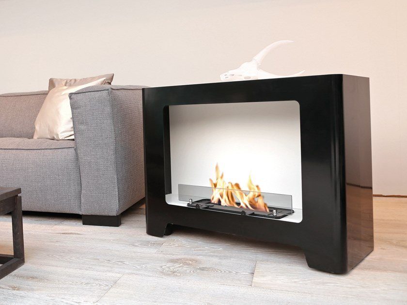 Open freestanding bioethanol painted metal fireplace MONZA by BRITISH FIRES