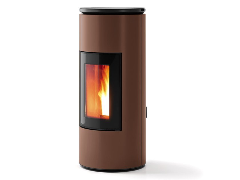 Pellet powder coated steel stove MOOD by MCZ GROUP