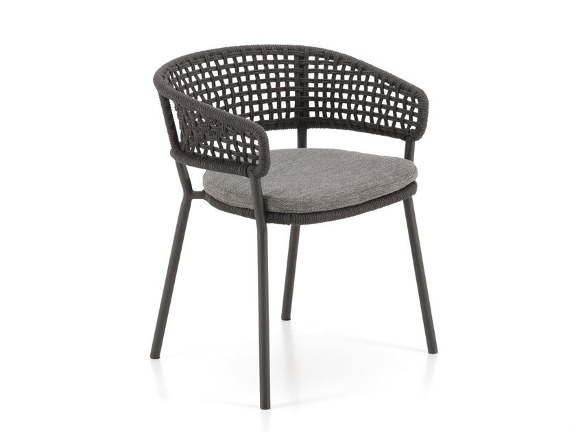 Garden chair with armrests MOON ALU | Garden chair by Talenti