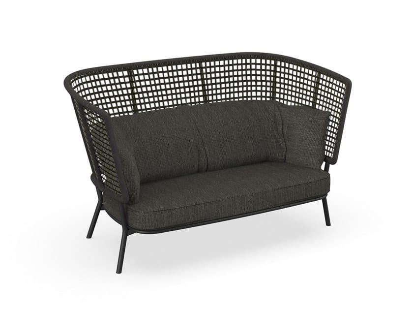 Outdoor Patio Couch Set, Moon Alu High Back Garden Sofa By Talenti Design Cristian Visentin