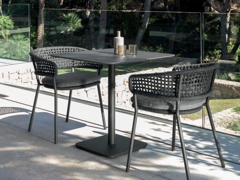 Square garden table MOON ALU | Square table by Talenti