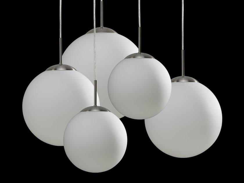 Direct light halogen glass pendant lamp MOON BAL by LUNOO