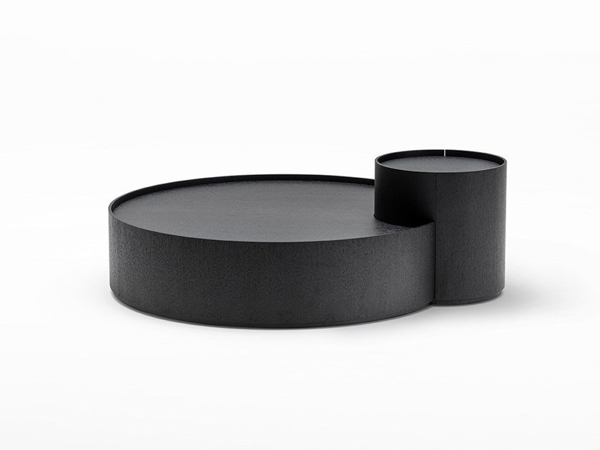 Round coffee table with storage space MOON ECLIPSE by Living Divani
