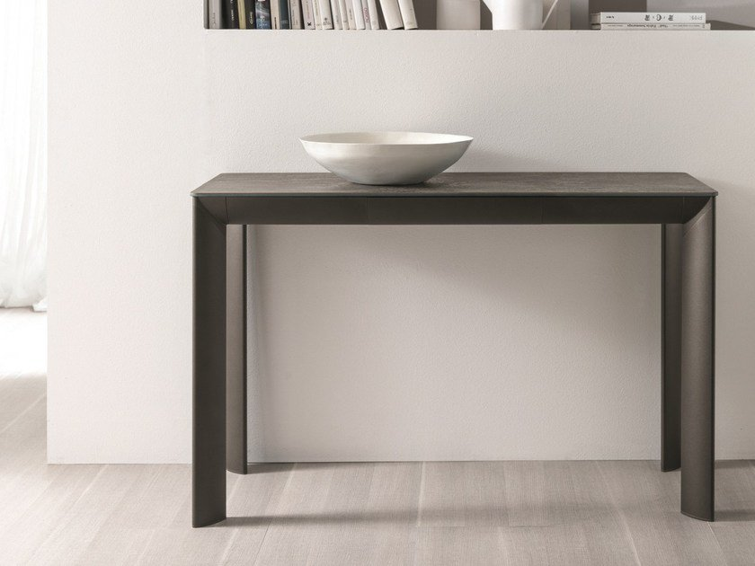 Rectangular aluminium console table MOON | Console table by IDEAS Group