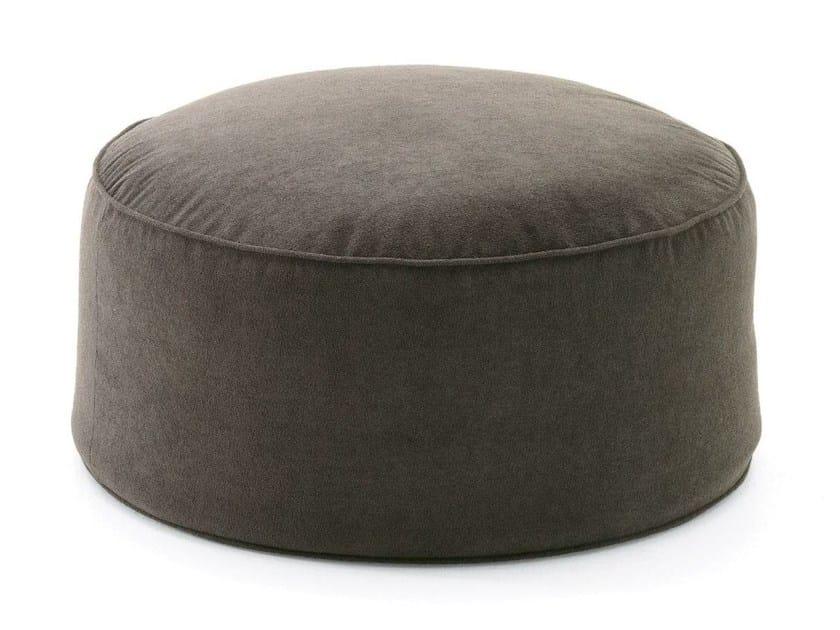 Round fabric garden pouf MOON | Round garden pouf by FAST