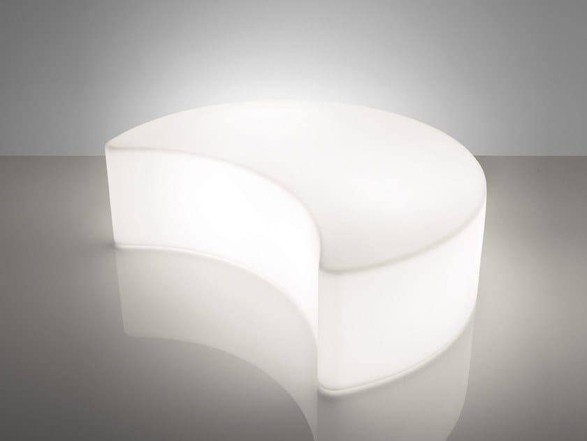 Polyethylene pouf with light MOON by SLIDE