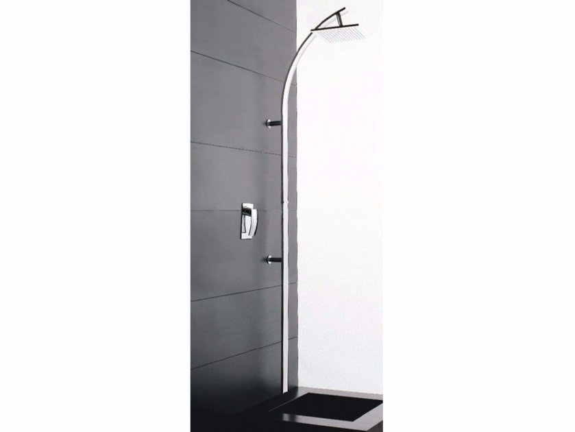 Wall-mounted shower panel with overhead shower MOON | Shower panel by ZAZZERI