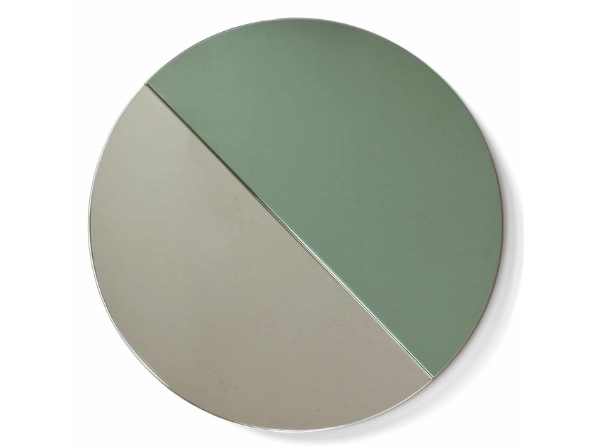 Round wall-mounted framed mirror MOONRISE MIRROR by Vij5
