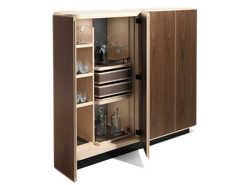 Bar cabinet with integrated lighting MOORE by GIORGETTI