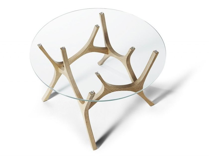Round glass coffee table MOOSE by Tabanda