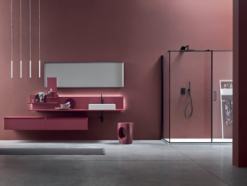 Sectional vanity unit MOOV by Arcom