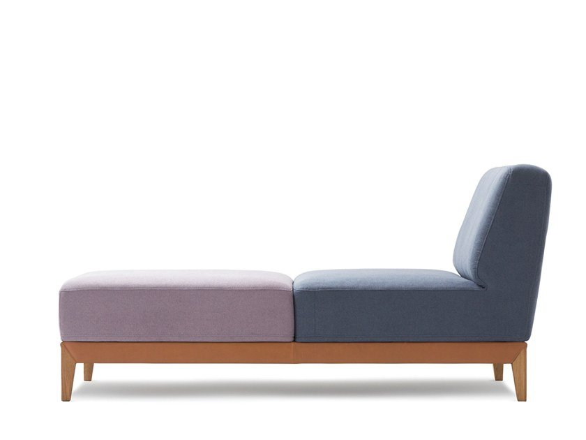 Upholstered Chaise longue MOOVE | Chaise longue by Extraform