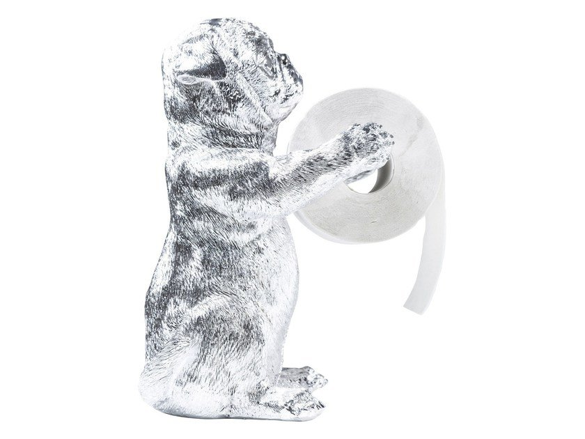 Synthetic material toilet roll holder MOPS CHROME by KARE-DESIGN