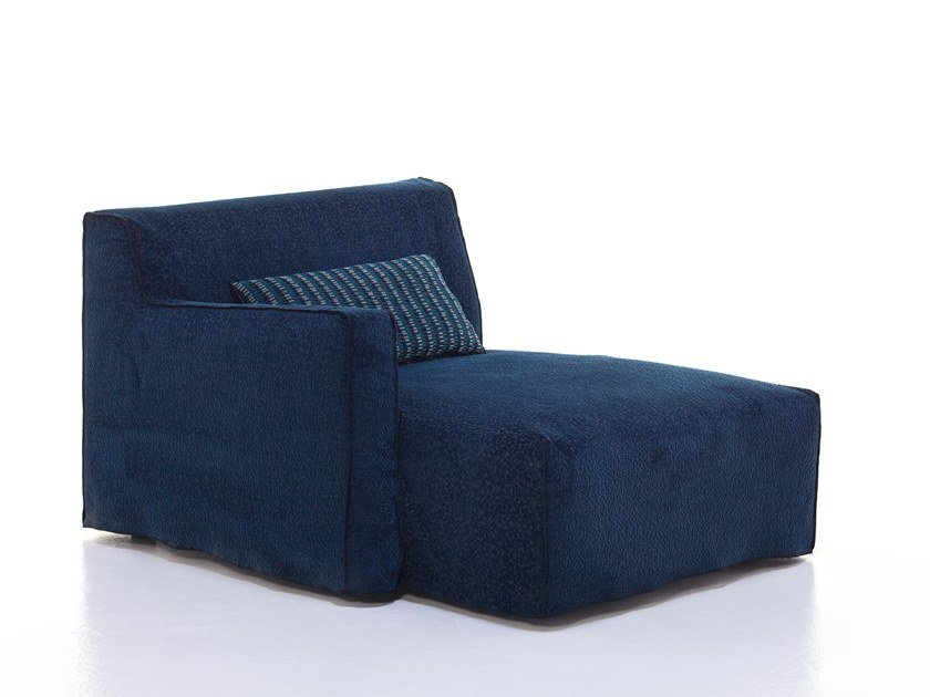 Upholstered fabric day bed with removable cover MORE 20 L / R by Gervasoni