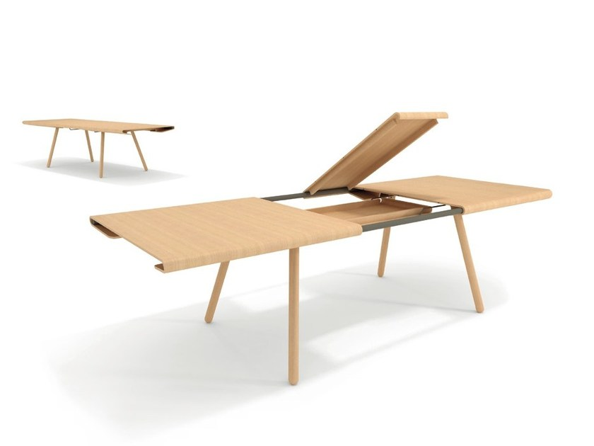 Extending rectangular dining table MORE by Montis