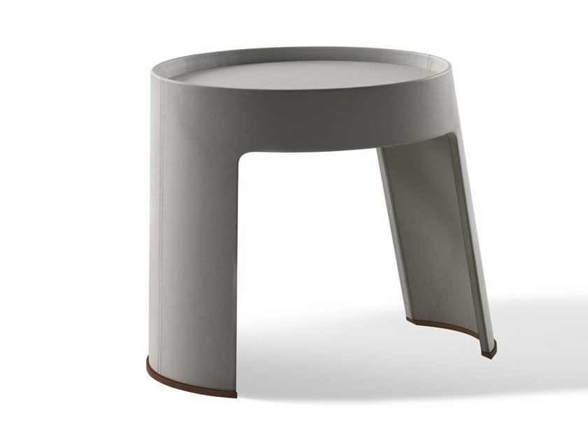Oval leather side table MORFEO | Coffee table by GIORGETTI