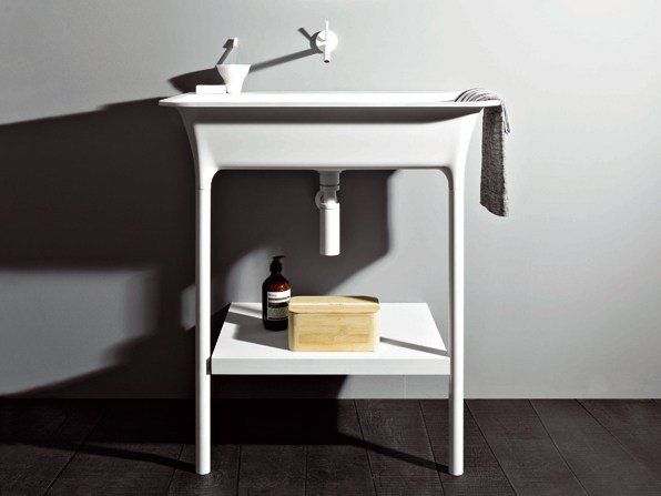 Kos Design morphing console washbasin by kos by zucchetti design