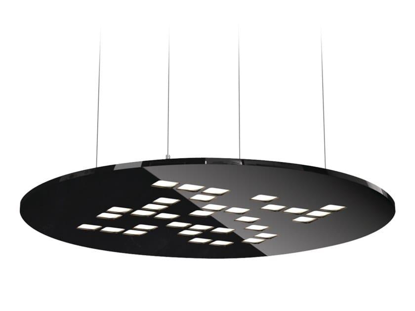 Round Sospensione Factory Lug Mosaic Led Light Lampada A Y7gyvfb6
